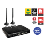 Draytek DV2925L Multi WAN Router with LTE SIM card slot, 2 x Gigabit WANs, and 4G USB WAN port for Load Balancing and Fail-over, 5 x Giga LANs, IPv6, Firewall, CSM, 50 x VPNs, 25 x SSL VPNs, and support Smart Monitor (50 nodes) & VigorACS SI
