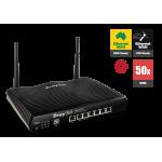 Ddraytek DV2925n Dual Gigabit Broadband Firewall QoS IPv6 Router with 5 x Giga LANs, 50 x VPNs, 25 x SSL VPNs, USB 3G/4G, 802.11n WLAN, and support Smart Monitor (50 nodes) & VigorACS SI