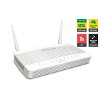 Draytek DV2762AC VDSL2 & ADSL2+ Firewall QoS IPv6 Router with 1 x Giga WAN/LAN, 3 x Giga LANs, 2 x VPNs, USB 3G/4G backup, AC1200 WiFi