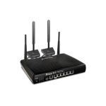 DrayTek DV2927Lac Multi WAN Router with a Cat 6 4G LTE SIM slot, 1 x GbE WAN, 1 x GbE WAN/LAN, and 3G/4G USB WAN port for Load Balancing and Fail-over, 5 x GbE LANs, Objec