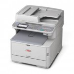 OKI MC342dnw Colour A4 20 - 22ppm Network AirPrint, Google Cloud Print, Wireless Duplex 350 sheet 4-in-1 Multi Function Printer