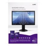 """24"""" TN-LED, 16:9, 1920x1080, 2ms, 250nits, 12M:1, DSUB, HDMI, Spk(2Wx2), Tilt, Height Adj, VESA(100x100), 3Yrs Wty"""
