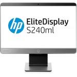 """HP S240ML 23.8"""" IPS LED Backlit MHL, 16:9, 1920 x 1080, VGA+HDMI+DP, 720p HD Webcam, Height, Tilt, Swivel, USB, 3 Yrs"""