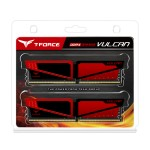 T-Force Vulcan Series Dual Channel DDR4 3000 MHz 2 x 4GB Red
