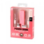 2200mah Emergency Power Bank with 3 in 1 Charging Cable Precision PINK