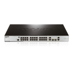 24-Port 10/100Mbps + 2x 1000BaseT & 2x 1000BaseT / SFP L2 Managed Switch with PoE