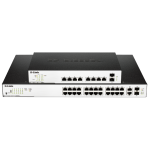 26-Port Surveillance Switch with 24 PoE and 2 Combo UTP/SFP ports (370W PoE budget)
