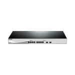 10-Port 10 Gigabit WebSmart Switch with 8 10GBase-T Ports and 2 SFP+ ports