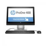 "HP 400 ProOne G2, AiO, 20"" Touch, i5-6500T, 4GB DDR4-2133, 500GB SATA, DVDRW, W7P64 (W10PLIC) 1-1-1 WTY"