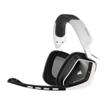 Corsair Gaming VOID Wireless, Dolby 7.1 Wireless RGB Gaming Headset White, 2.4GHz Wireless, 16.8m colors RGB Lighting, CUE Control