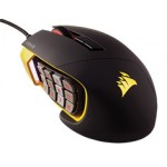 Corsair Gaming SCIMITAR RGB MOBA/MMO 12, 000 Optical Gaming Mouse, Key Slider Mechanical Buttons (Yellow)