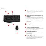 Microsoft® Wireless Comfort Desktop 5050 AES USB Port English International ROW 1 License CD