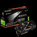 AORUS, GTX 1080, 8GB GDDR5X, 1 x DVI-D, 3 x DP1.4, 1 x HDMI2.0b, 7680x4320, ATX