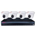 HONEYWELL - 4CH 1080P KIT W/ 4X IR EYE BALL DOMES CAMS, NO HDD