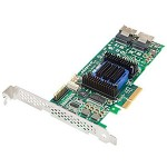 2270100-R - SATA/SAS, RAID0, 1, 5, 10, 50, 60, 8-Port, PCIEx8, 512MB, LP, NO CABLE
