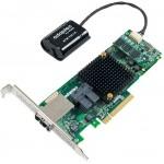 2277100-R, 12GB/S ROC, MAXCACHE+, PCIG3, HYBRID RAID 0, 1, 1E, 5, 6, 10, 50, 60, 8INT+8EXT PORT, 2x SFF-8643 2X SFF-8644 CONNECTOR, 1GB CACHE, MD2-LOW PROFILE