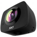 JOLT360 DUO - Dual 4MP Lens OmniBSI-2 CMOS sensor, 360camera, in-built battery, WiFi, LCD, Mic/Speaker, Black